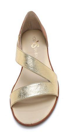 gold cross trap sandal