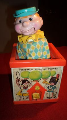 70s toys | Caja De Fuelle Con Payaso Años 70s Fisher Price Toys