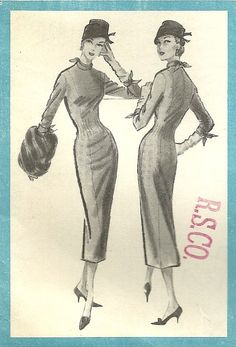 Very Glamorous, UNCUT 1957 Vintage Pattern, Pauline Trigere Fitted Dress, McCall's 4256 by MaisonMignot