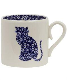 Calico Cat Mug, Burleigh.