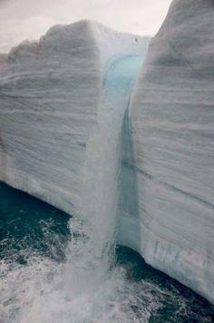 Iceberg waterfall #Antarctica