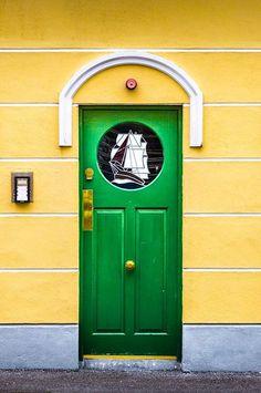 Green door, County Cork, Ireland