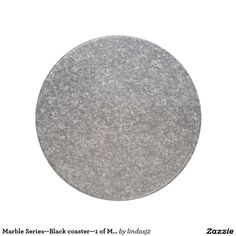Marble Series--Black coaster--1 of Many Colors Drink Coaster
