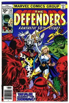 Very Fine - condition, and touch Read More for grading details for this Defenders comic book, Defenders series) by Marvel comics, and to knock down the total for this Defenders comic, touch Read More. Marvel Comics Superheroes, Marvel Comic Books, Marvel Art, Marvel Characters, Comic Books Art, Book Art, Dc Comics, Defenders Comics, Classic Comics