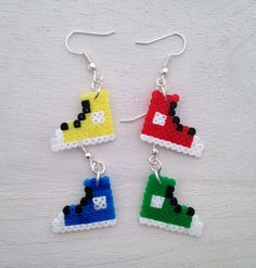 Converse Shoes Perler Bead Earrings by KungFuse on Etsy