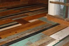 Reclaimed Painted Wood Flooring images