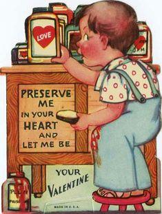"Preserve Me in Your Heart Valentine ""PRESERVE ME in your HEART and let me be your VALENTINE"" MSS 11074-04"