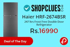 Shopclues #DealofTheDay is offering 24% off on Haier HRF-2674BS-R 247 ltrs Frost Free Double Door Refrigerator @ Rs.16990 Only. 1 Year on Unit and 10 Years Warranty on Compressor.  http://www.paisebachaoindia.com/haier-hrf-2674bsr-247-ltrs-frost-free-double-door-refrigerator-at-rs-16990-only-shopclues/