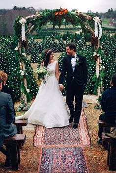 """Classy Girls Wear Pearls: """"Forever Green"""" Our Wedding Day Tree Wedding, Our Wedding Day, Farm Wedding, Wedding Bells, Wedding Stuff, Preppy Wedding Dress, Wedding Dresses, Christmas Tree Farm, Christmas Wedding"""
