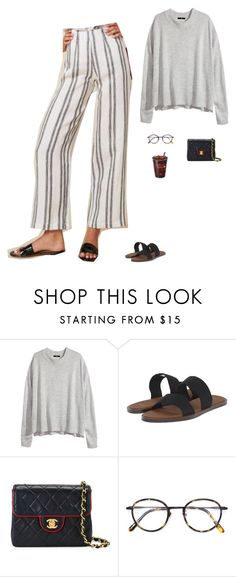 """Untitled #1917"" by tayloremily218 on Polyvore featuring H&M, sanuk, Chanel and Frency & Mercury"