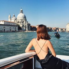 Got your back: Nicole Warne in Venice