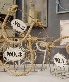 Metal No. Basket Set | zulily