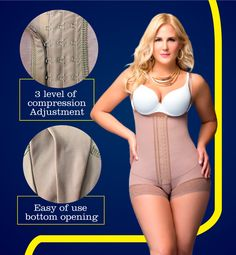 Fajas Colombianas Dprada Wormens Shapewear Post Lipo & Post Partum Body Shaper 11066