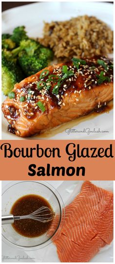 This Bourbon Glazed Salmon is a quick, easy, and nutritious meal to serve your family any night of the week. http://glitterandgoulash.com/bourbon-glazed-salmon/