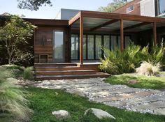 lawn alternative---dwarf myrtle---contemporary landscape by Margie Grace - Grace Design Associates