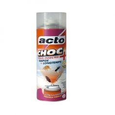 Un aérosol automatique Acto CHOC 13 avec une nouvelle formule concentrée, foudroyante et spécial infestations, rapide et traite environ 150 mètre cube. Traite les moustiques, mouches, acariens, blattes, punaises, puces...