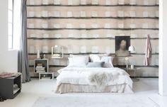 geblokt-behang-slaapkamer Art Deco, Bedroom, Wallpaper, Furniture, Home Decor, Op Art, Style, Swag, Decoration Home