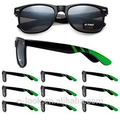 Wholesale Retro Team spirit Racing Stripe Promotional Sunglasses