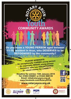 Arun Youth Community Awards - Do you know a young person who deserves to be recognised by the community?