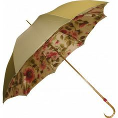 Pasotti Green Double Canopy Floral Umbrella