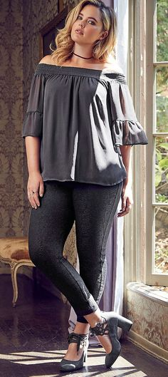 Plus Size Outfit - Shop the Look Women Big Size Clothes - http://amzn.to/2ix7dK5