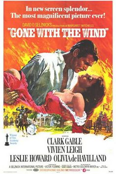 gone with the wind poster/ e o vento levou
