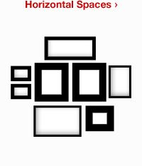 this is a VERY cool tool - all kinds of layouts and you can plug in the dimensions you want to fill... it's on the HGTV site and uses Target frames.