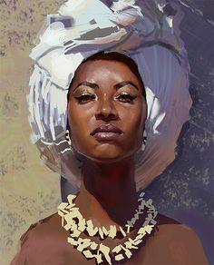 Trendy Ideas for black art afro illustrations Black Girl Art, Black Women Art, Art Girl, Gif Kunst, L'art Du Portrait, Digital Portrait, Digital Art, Face Illustration, Portrait Illustration