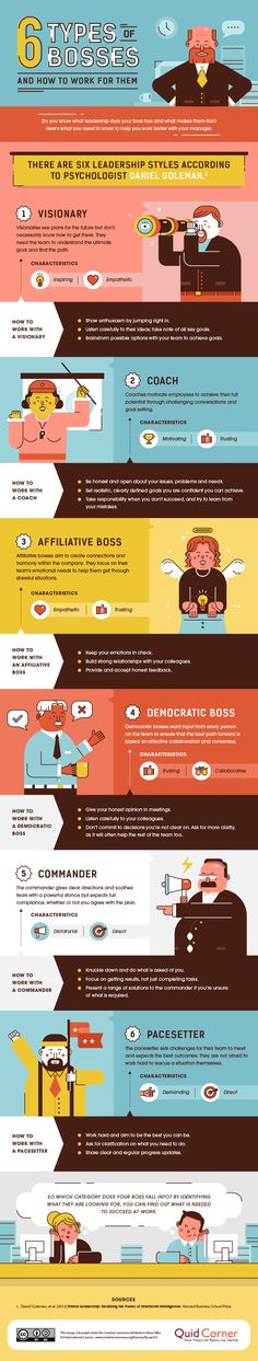The 6 Types of Bosses (and How to Work For Them) [INFOGRAPHIC]