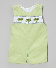 Green Gingham Crickets John Johns - Infant & Toddler by BeMine on #zulily! #zulilyfinds