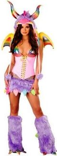 Rainbow Dragons Purple #Dragon Horns #Costume Rainbows upon Sexy Flirty Female Costumes for Halloween, Dancers Dress Up