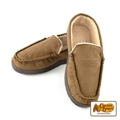 Keep his toes toasty and comfortable this holiday season with our loafer-style slippers. The sherpa lining in these slippers keeps feet warm in any weather. Putting your feet up never felt so good!     Answer fun questions and you could win in the Cracker Barrel Old Country Store Pick it to Win it Sweepstakes. Start 'picking' your answers at crackerbarrel.com/win (ends Jan 2, 2013).