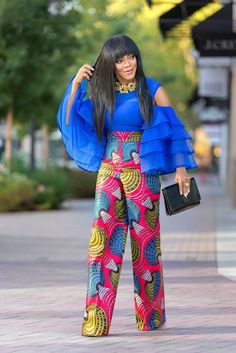 Latest Ankara Styles (Jump Suit) for Ladies Ankara Dresses African Attire, African Wear, African Women, African Dress, African Outfits, Ankara Dress Styles, Ankara Tops, Latest Ankara Styles, Ankara Skirt
