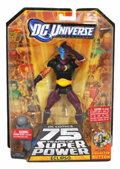 DC Comics 75 Years of Super Power Wave 12 Classics Series 6 Inch Tall Action Figure #1 - ECLIPSO with Darkseid's Left Leg Plus Bonus Collector Pin