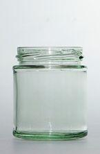 Plasdene Glass Jar 190ml 82Hx67.5D..Round - BC-190-126-FL