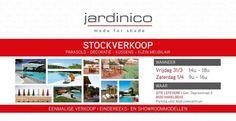 Stockverkoop bij Jardinico Parasols -- Harelbeke -- 31/03-01/04
