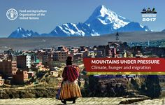 """nternational Mountain Day is a chance to reflect upon the plight of mountain peoples, among the hungriest of the world, and the role that mountains play in the sustainable development of our planet. The theme of this year's IMD celebration, """"Mountains under Pressure: climate, hunger, migration"""", aims to raise awareness about how the effects of climate change will impact food security and migration patterns in mountains."""