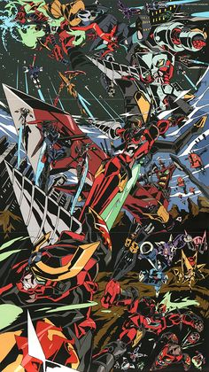 """busterbeam: """" artbooksnat: """" Awesome illustration by Hiroyuki Imaishi (今石 洋之) from the Tengen Toppa Gurren Lagann Drill Final Drill book. So many evolutions! """" holy shit this is so good """" Imaishi is my hero."""