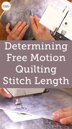Determining Free Motion Quilting Stitch Length - How do I know what my free motion quilting stitch length should be- is a very common question when - Quilting For Beginners, Quilting Tips, Quilting Tutorials, Longarm Quilting, Modern Quilting, Crazy Quilting, Hand Quilting, Quilting Stencils, Quilting Templates