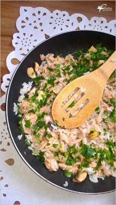Szybki ryż z tuńczykiem i pieczarkami (1) Aga, Food And Drink, Cooking Recipes, Dinner, Ethnic Recipes, Foods, Diet, Food Ideas, Kochen