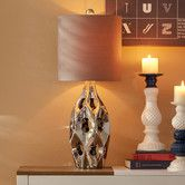 """Found it at AllModern - 22"""" H Table Lamp with Oval Shade"""