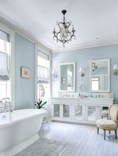 Amazing Blue Hued Bathroom Remodel Ideas 28