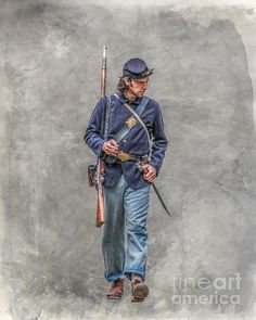Marching Union Soldier Ver Three Print By Randy Steele