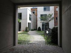Büro, Berlin, Chipperfield, Durchgang, Hof, Beton, Fassade