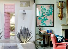 Pink + Green Interior