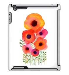 Uncommon LLC Margaret Berg Poppy Garden Deflector Hard Case for iPad 2/3/4 (C0050-SS)