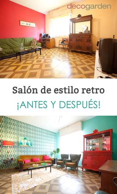 Salón de estilo retro #decoración #retro #estilo #decoration #decogarden