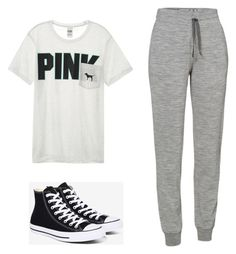 Designer Clothes, Shoes & Bags for Women Lazy Day Outfits, Cute Outfits, Icebreaker, Felicia, Outfit Of The Day, Victoria's Secret, Converse, Sweatpants, Polyvore