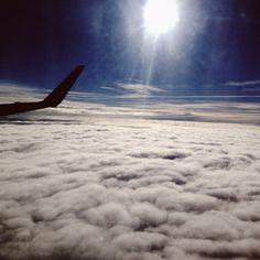 travel. airplane. clouds. sky.