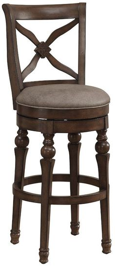 American Heritage Billiards 111208 Livingston Bar Height Stool in Sienna